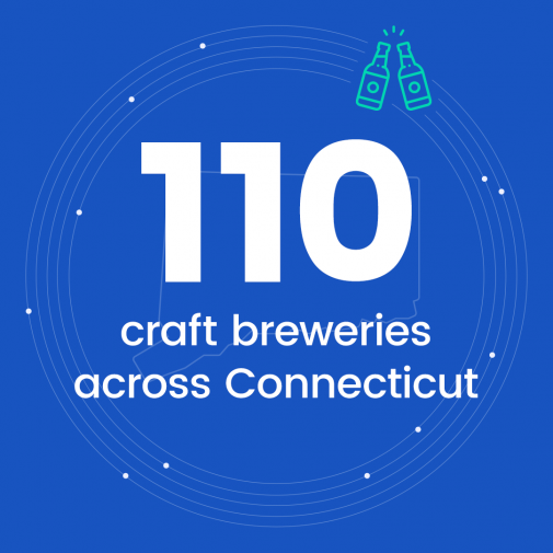 110 craft breweries across Connecticut
